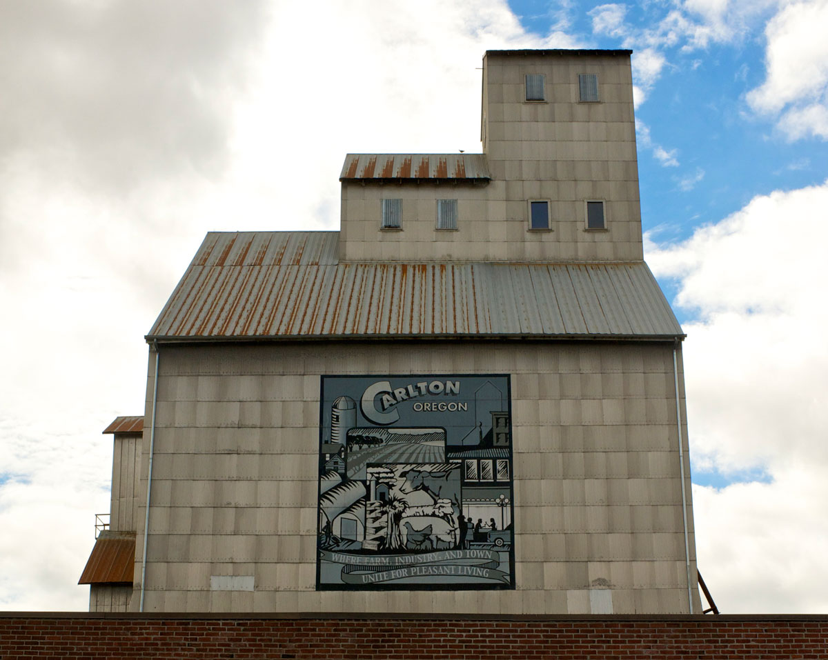 Carlton Grain Elevator Restoration Flâneur Winery