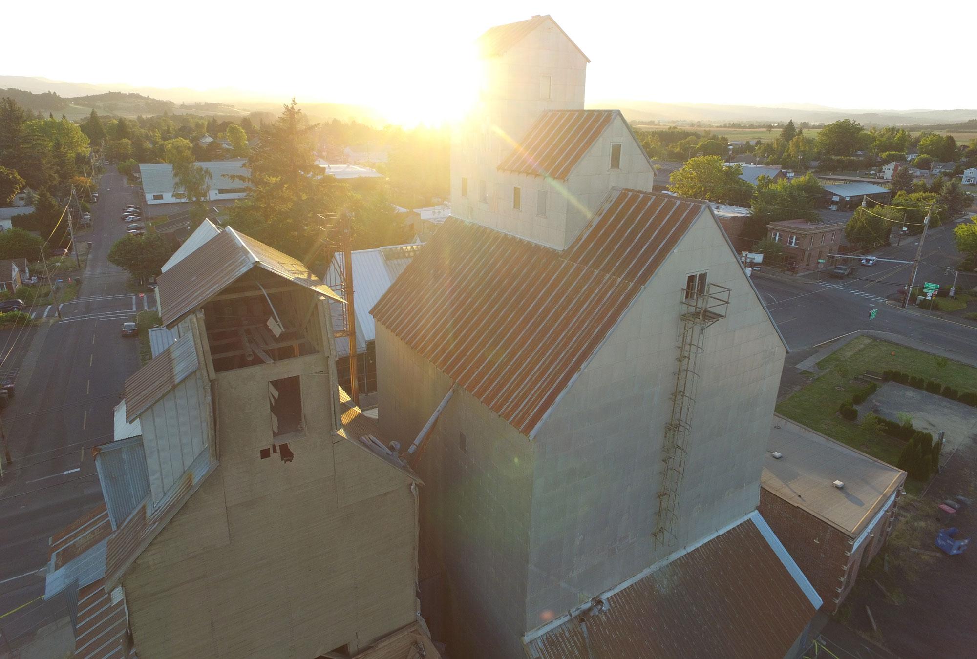 Carlton Grain Elevator Restoration Flâneur Winery